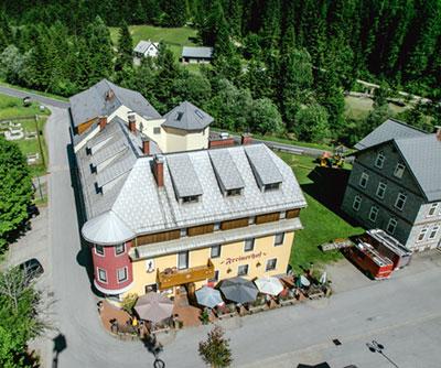 Luftaufnahme von unserem Freinerhof